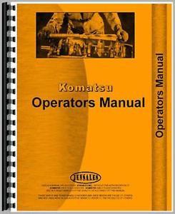 Komatsu D31A-17 D31P-17 Crawler Operators Manual