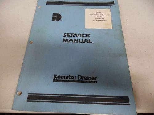Komatsu 2400-2500 Series A and B International Wheel Tractor Service Manual