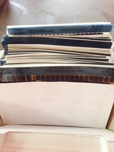 Komatsu microfiche cards