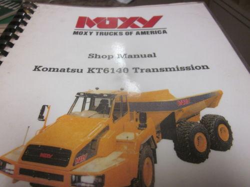 Moxy Komatsu KT6140 Transmission Shop Manual