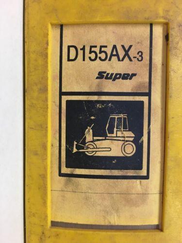 Komatsu D155AX-3 SUPER SERVICE SHOP REPAIR MANUAL BULLDOZER TRACTOR DOZER GUIDE