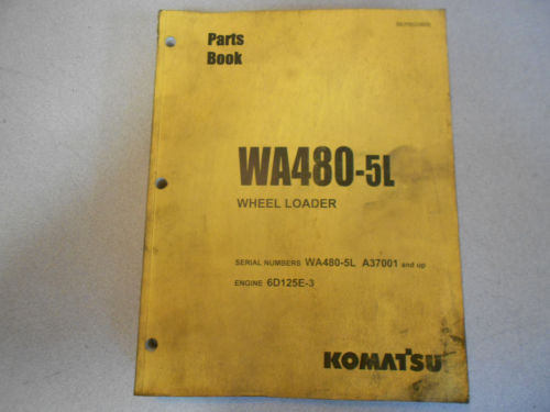 KOMATSU, WA 480-5L Wheel Loader Parts Book
