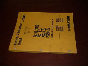 KOMATSU 200 210 220 250 -6 EXCAVATOR OPERATION MAINTENANCE BOOK MANUAL