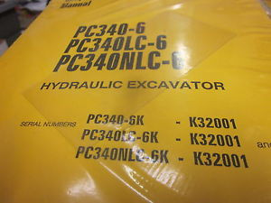 Komatsu PC340-6 PC340LC-6 PC340NLC-6 Excavator Repair Shop Manual