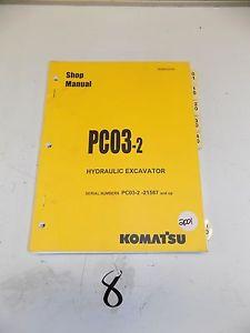 Komatsu Service PC03-2 PCO3-2 Shop Manual Repair Book  PC03-2-- 21587 & ^
