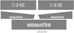 D31E New Komatsu Dozer Decal Set with Stripe