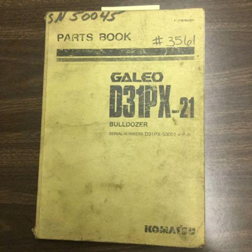 Komatsu D31PX-21 PARTS MANUAL BOOK CATALOG BULLDOZER TRACTOR GUIDE PEPB088300