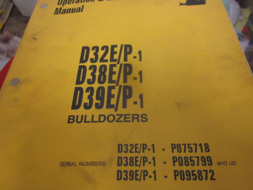 Komatsu D32E P-1 D38E P-1 D39E P-1 Dozer Operation & Maintenance Manual