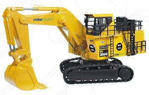 1:50 Scale Komatsu PC3000-6 Mining Backhoe Loader - MILLER ARGENT - BNIB