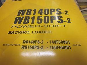 Komatsu WB140PS-2 WB150PS-2 Backhoe Loader Repair Shop Manual