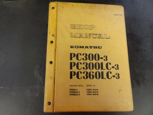 Komatsu PC300-3 PC300LC-3 PC360LC-3 Shop Manual