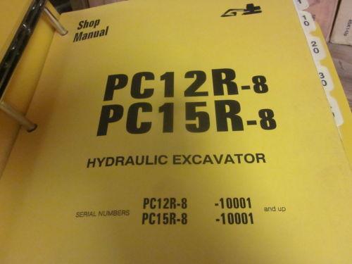 Komatsu PC12R-8 PC15R-8 Hydraulic Excavator Repair Shop Manual