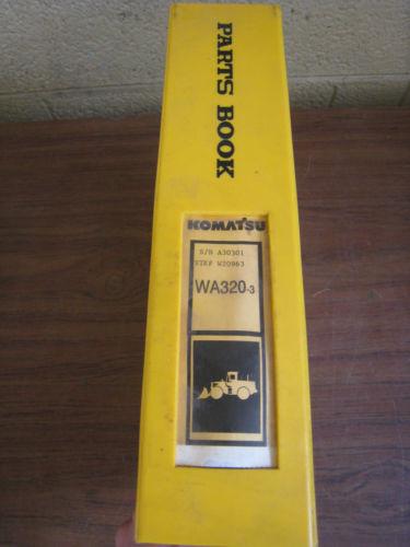 Komatsu WA320-3 3LE Wheel Loader Tractor Parts Book Manual BEPBW19070 Used
