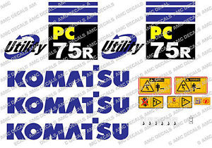 KOMATSU PC75R DIGGER DECAL STICKER SET