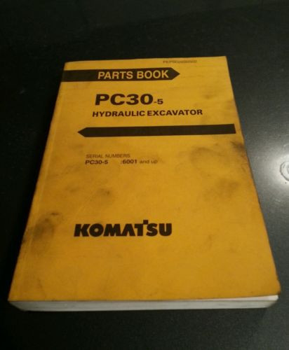 KOMATSU PC30-5 HYDRAULIC EXCAVATOR PARTS BOOK PEPB020S0502