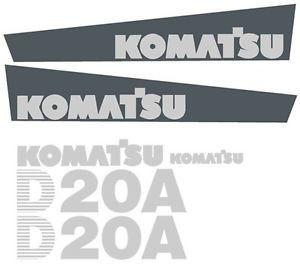 Brand New Komatsu Dozer D20A Decal Set with Stripe