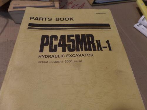 KOMATSU PC45MRX-1 HYDRAULIC EXCAVATOR PARTS MANUAL S/N 3001 & UP
