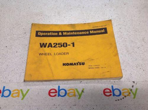 Komatsu WA250-1 Operation & Maintenance MANUAL WHEEL LOADER PSEAMU4180102
