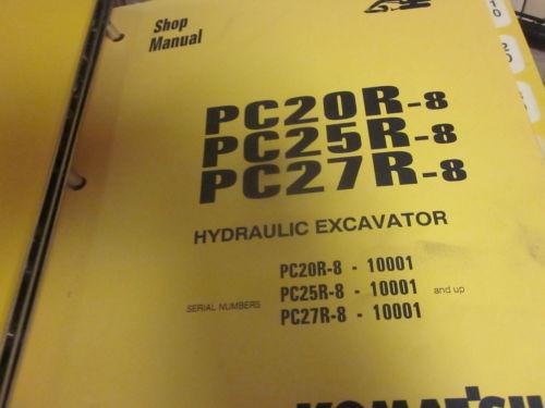 Komatsu PC20R-8 PC25R-8 PC27R-8 Hydraulic Excavator Repair Shop Manual
