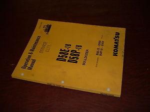 KOMATSU 58 D58 P -1B BULLDOZER OPERATION MAINTENANCE BOOK MANUAL