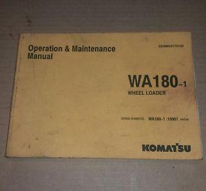 Komatsu WA180-1 OPERATION MAINTENANCE MANUAL WHEEL LOADER