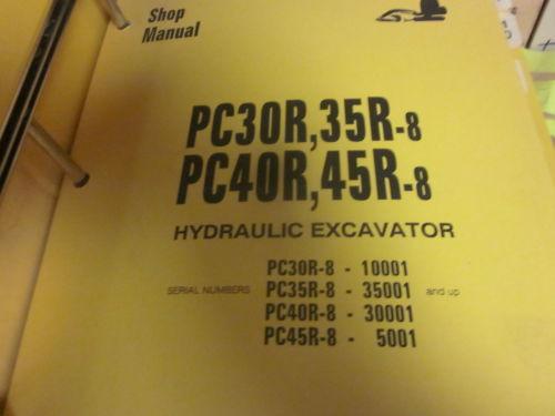 Komatsu PC30R-8 PC35R-8 PC40R-8 PC45R-8 Hydraulic Excavator Repair Shop Manual