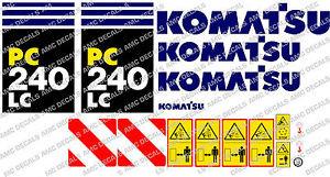 KOMATSU PC240LC DIGGER DECAL STICKER SET