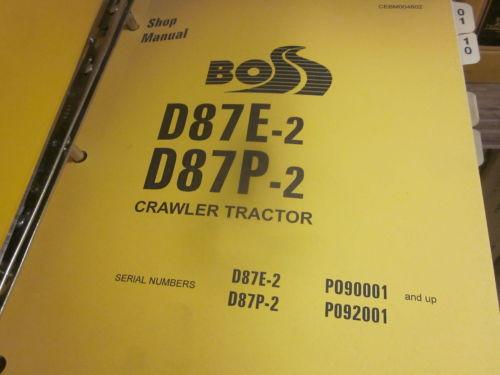 Komatsu D87E-2 D87P-2 Bulldozer Repair Shop Manual