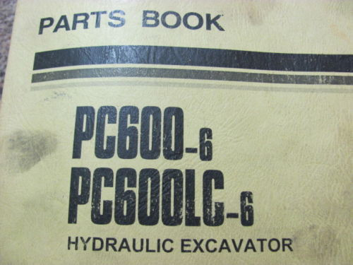 KOMATSU PC600-6, PC600LC-6 11064 11083 HYDRAULIC EXCAVATOR PARTS BOOK PEPBO50207