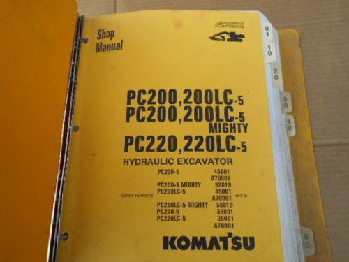 Komatsu PC200-5 PC200LC-5 HydraulAic Excavator Shop Manual SEBMA2050508