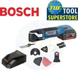 Bosch GOP18V-EC Brushless Oscillating Multi Tool 1x 3.0Ah Charger & Accessories