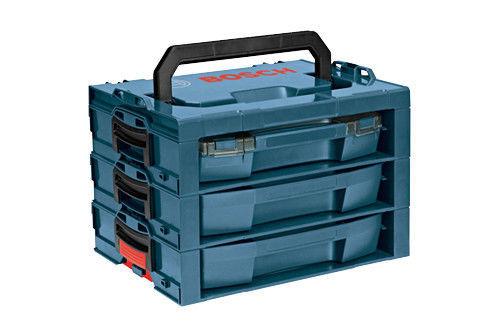 Bosch L-RACK Organized shelf system + drawers + handle Click & Go Case LBoxx