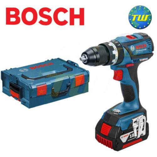 Bosch GSB18V-EC 18V BRUSHLESS Combi Drill with Metal Chuck & 1x 4.0Ah Battery