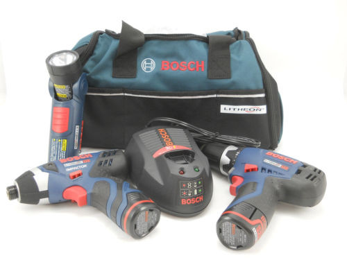 Bosch CLPK30-120 12 Volt Max Lithium-Ion 3-Tool Combo Kit