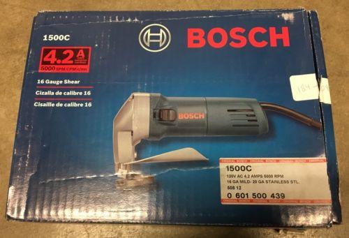 Bosch 1500C 16 Gauge Unishear Metal Shear 4.2 AMP NEW Electric Tool