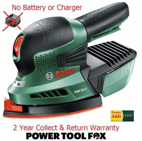 new Bosch PSM18Li (BARE TOOL) Cordless 18v Sander 06033A1301 3165140571975 *B