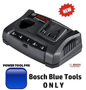 new -Bosch 10.8/12V &18V BLUE TOOL Twin BATTERY CHARGER 1600A011AA 3165140904827