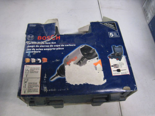 Bosch HTC5HPC Carbide-Tipped 5-Piece Easy Plug Removal Hole Saw Kit w/ Case