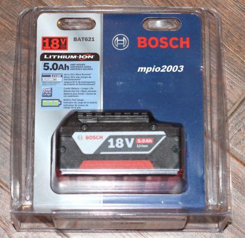 NEW Bosch 18 Volt BAT621 FatPack Battery 18V Li-Ion 5.0Ah W/Fuel Gauge