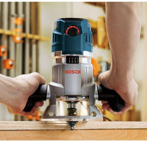 BOSCH Corded Electronic Fixed Base Router Kit NEW Excellent Woodworking Routing