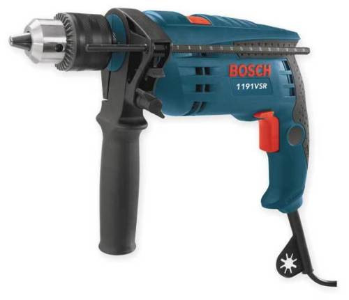 BOSCH 1191VSRK Corded Hammer Drill Kit,1/2 In,7 A,120 V