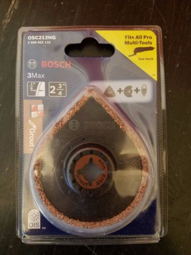 "BOSCH 3Max Grout and Tile Blade OSC212HG 2-3/4"" NEW & SEALED!"