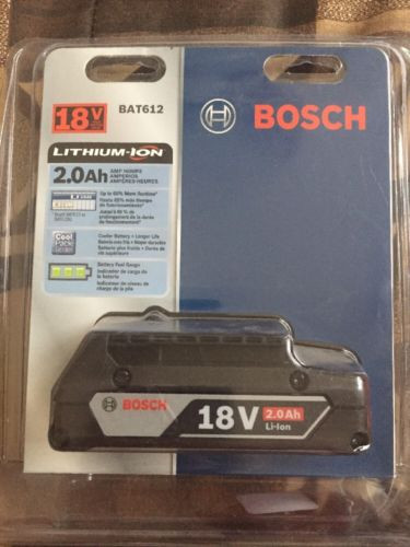 NEW Bosch BAT612 18V 2.0Ah Lithium Ion Battery w/ Fuel Gauge