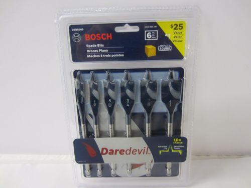 "BOSCH DSB5006 DareDevil 6-Pc Spade Bit Set - 1"" 7/8"" 3/4"" 5/8"" 1/2"" 3/8"""