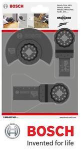 Bosch 2608662343 Wood & Metal Starlock Blade Set for Multi-Tools 3 Piece