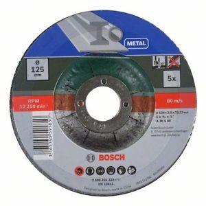 Bosch 2609256333 Mole Taglio Metallo, 125 x 22.23 x 2.5 mm, a Centro Depresso,