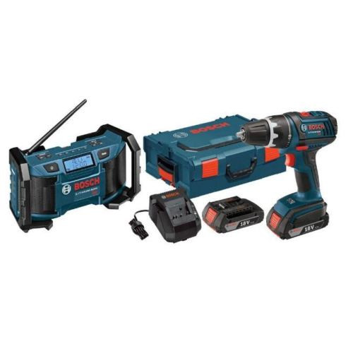 New Lithium Ion Cordless Electric 18 Volt 1/2 in Drill Driver Radio Power Tool