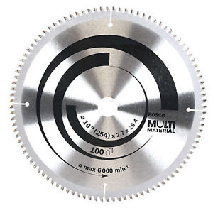 "Bosch Ø254mm(10"") 100T Circular Saw Blade 2608642198 for Multi Material"