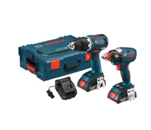Bosch 18-Volt Lithium Ion (Li-ion) Brushless Motor Cordless Combo Kit Hard Case