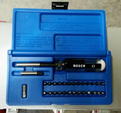 Bosch T2440 Set of Insert Bits Plus Magnetic Screwdriver Socket adapter Bit